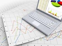 Bedrijfs computer Royalty-vrije Stock Afbeeldingen