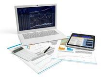 bedrijfs computer met een spatie Stock Afbeeldingen