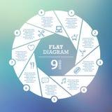 Bedrijfs concept Cirkelraadsel Infographic Malplaatje voor cyclusdiagram, grafiek, presentatie en ronde grafiek Royalty-vrije Stock Foto's