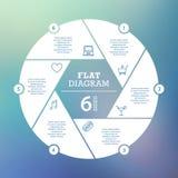 Bedrijfs concept Cirkelraadsel Infographic Malplaatje voor cyclusdiagram, grafiek, presentatie en ronde grafiek Stock Fotografie