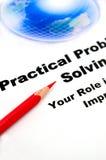 Bedrijfs concept, het praktische probleem oplossen Stock Afbeeldingen