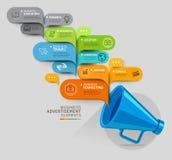 Bedrijfs concept Megafoon en bellentoespraakmalplaatje Stock Foto's