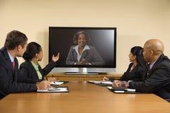 Bedrijfs conferentievergadering. Stock Foto's