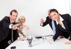Bedrijfs conflict Royalty-vrije Stock Foto's