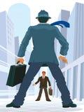 Bedrijfs confrontatie royalty-vrije illustratie