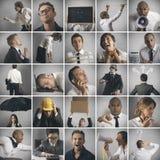 Bedrijfs, crisis en probleemconcept Royalty-vrije Stock Afbeelding