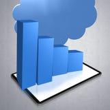 Bedrijfs 3d grafiek Royalty-vrije Stock Afbeeldingen