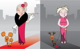 Bedrijfs dame in economische crisis vector illustratie