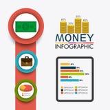 Bedrijfs de groei en geldbesparingen Royalty-vrije Stock Afbeeldingen