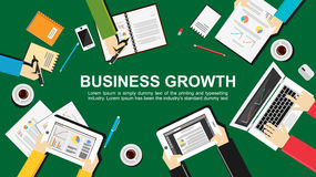 Bedrijfs de groei en groepswerk Stock Foto's