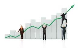 Bedrijfs de groei en succes Royalty-vrije Stock Afbeelding