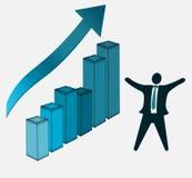 Bedrijfs de groei en succesgrafiek Royalty-vrije Stock Foto's