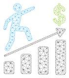 Bedrijfs de Groei Veelhoekig Kader Vectormesh illustration vector illustratie