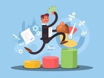 Bedrijfs de groeiconcept royalty-vrije illustratie