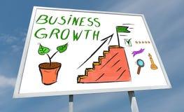 Bedrijfs de groeiconcept op een aanplakbord royalty-vrije stock foto's