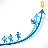 Bedrijfs de groeigrafiek stock illustratie