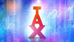 Bedrijfs de groeigrafiek met belasting Stock Afbeeldingen