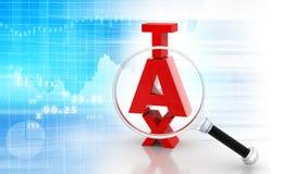 Bedrijfs de groeigrafiek met belasting Royalty-vrije Stock Foto