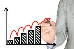 Bedrijfs de groeischets stock afbeelding