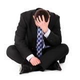 Bedrijfs depressie Stock Foto's
