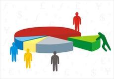 Bedrijfs diagram Royalty-vrije Stock Foto's