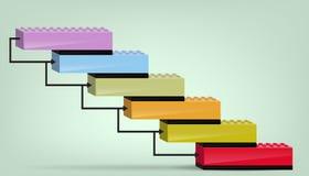 Bedrijfs Diagram gestapelde bakstenen Stock Fotografie