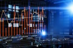 Bedrijfs digitale infographs Gemengde media stock illustratie