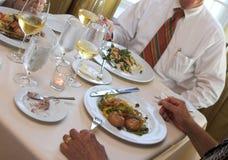 Bedrijfs diner royalty-vrije stock foto's