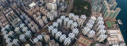 Bedrijfs district van Hongkong stock foto's