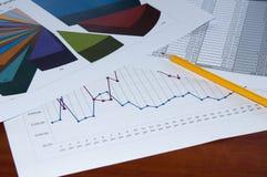 Bedrijfs documenten, bedrijfscollage Stock Afbeelding