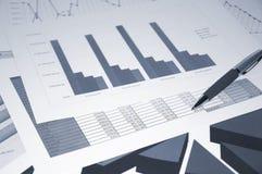Bedrijfs documenten, bedrijfscollage Stock Afbeeldingen
