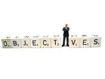 Bedrijfs doelstellingen Stock Fotografie