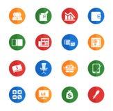 Bedrijfs eenvoudige pictogrammen Stock Foto