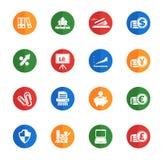 Bedrijfs eenvoudige pictogrammen Stock Foto's