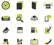 Bedrijfs eenvoudige vectorpictogrammen Stock Foto's