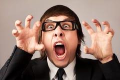 Bedrijfs emoties - Woede Stock Afbeeldingen