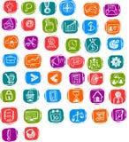 Bedrijfs en beheers Vectorpictogram voor Web Stock Foto