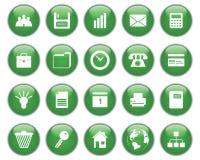 Bedrijfs en bureau geplaatste pictogrammen Royalty-vrije Stock Foto