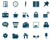Bedrijfs en bureau geplaatste pictogrammen Stock Fotografie