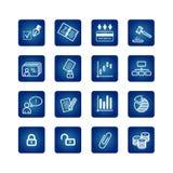 Bedrijfs en bureau geplaatste pictogrammen Royalty-vrije Stock Fotografie