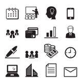 Bedrijfs en bureau geplaatste pictogrammen Royalty-vrije Stock Afbeelding