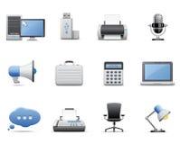 Bedrijfs en bureaupictogrammen Royalty-vrije Stock Afbeeldingen