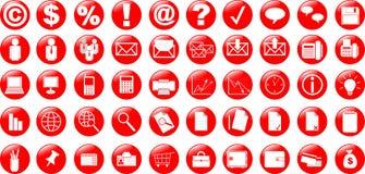 Bedrijfs en bureaupictogrammen Stock Afbeeldingen