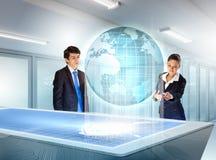 Bedrijfs en communicatie innovaties Stock Afbeeldingen