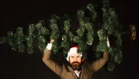 Bedrijfs en de wintervakantieconcept Mens in slim kostuum royalty-vrije stock foto