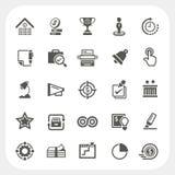 Bedrijfs en financiën geplaatste pictogrammen Stock Foto's