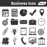 Bedrijfs en financiën geplaatste pictogrammen Royalty-vrije Stock Foto