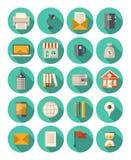 Bedrijfs en financiën moderne geplaatste pictogrammen Royalty-vrije Stock Foto