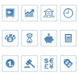 Bedrijfs en financiënpictogram Stock Afbeelding