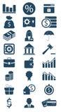 Bedrijfs en financiënpictogram Stock Afbeeldingen